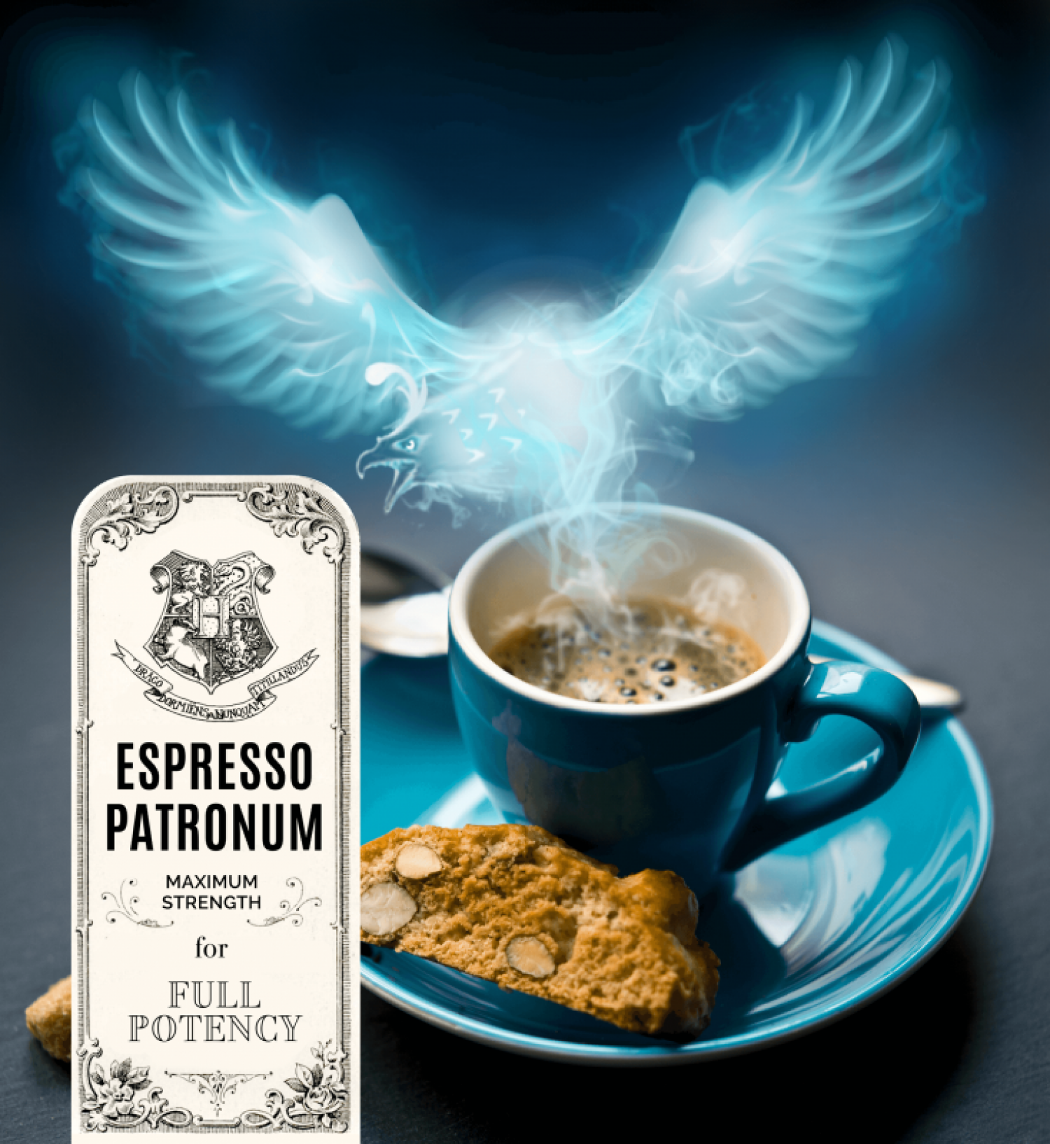 Espresso Patronum: An Uplifting Blend With Chocolate Notes Infographic