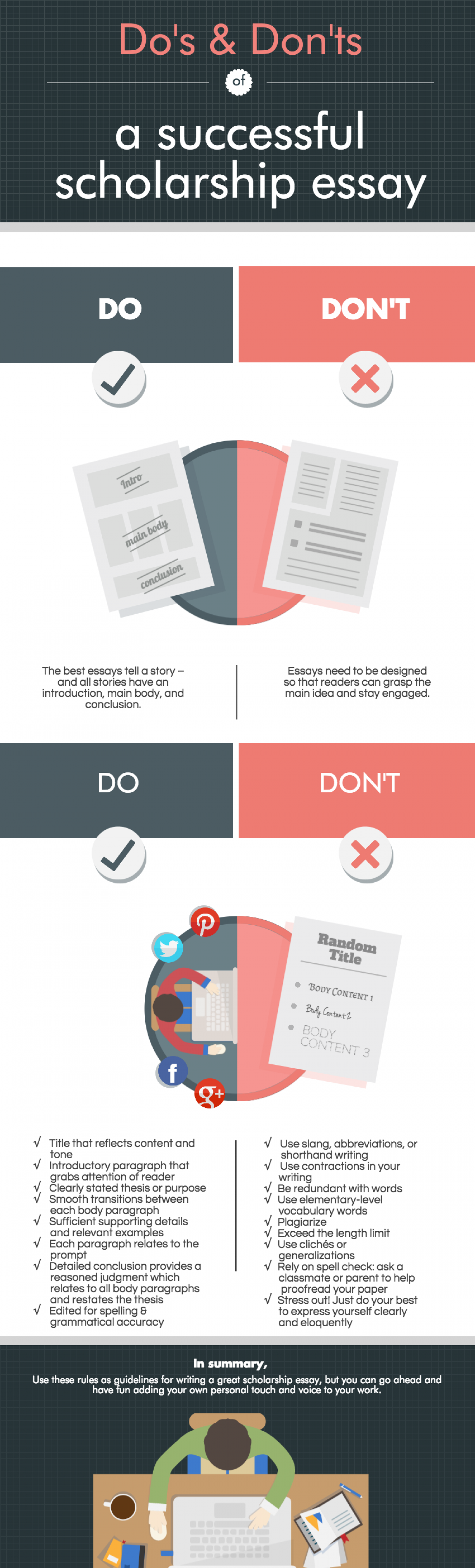 dos and donts essay Dos and don ts of essay writing - let specialists deliver their responsibilities: order the required essay here and wait for the best score professionally crafted and.