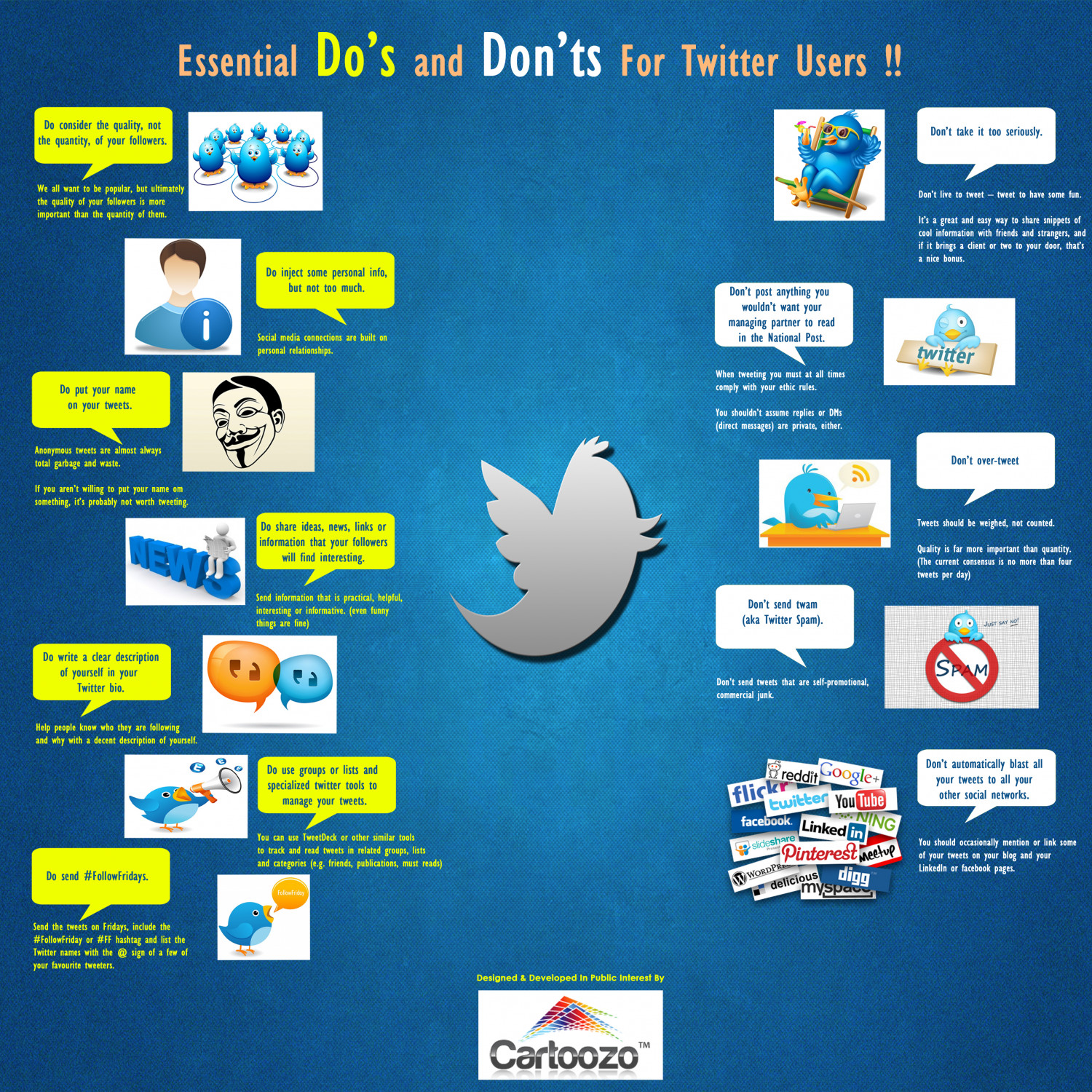 Essential Dos and Don'ts for Twitter Users Infographic
