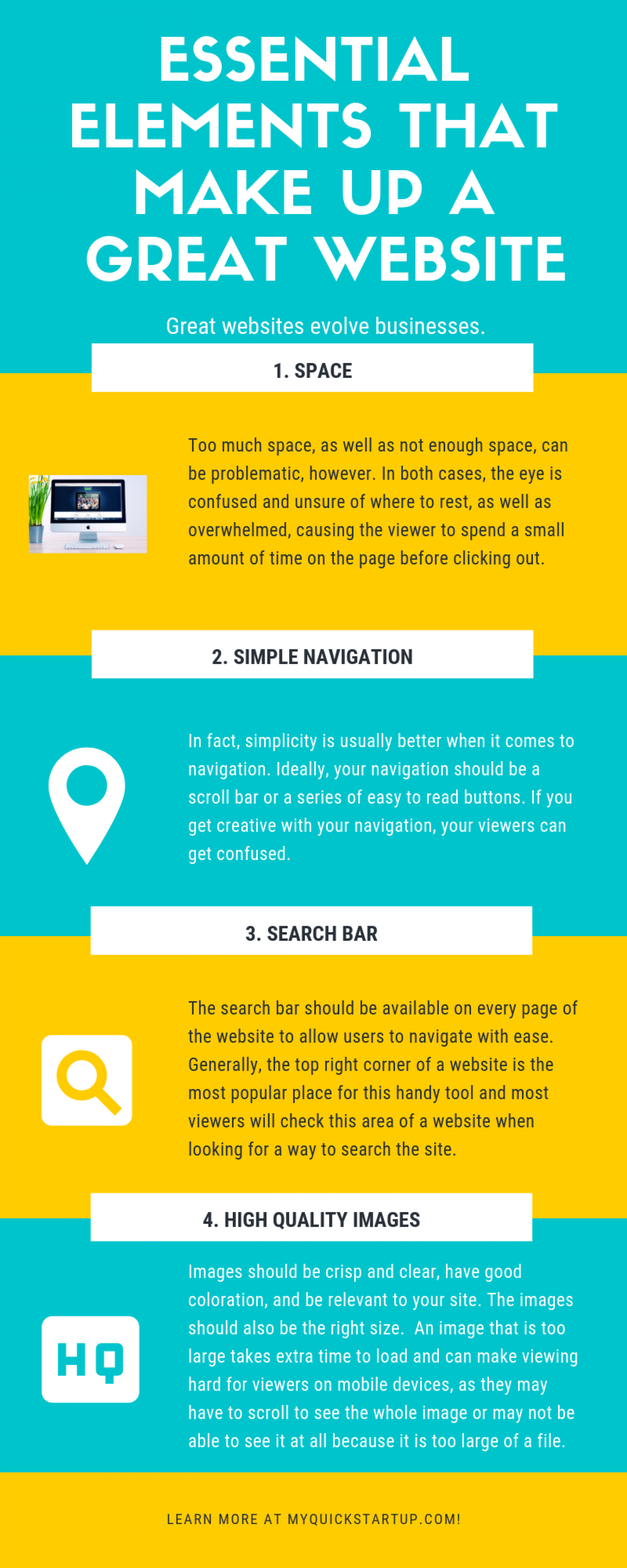 Essential Elements That Make Up A Great Website  Infographic