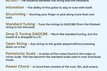 Essential Guitar Terms for Beginners Infographic