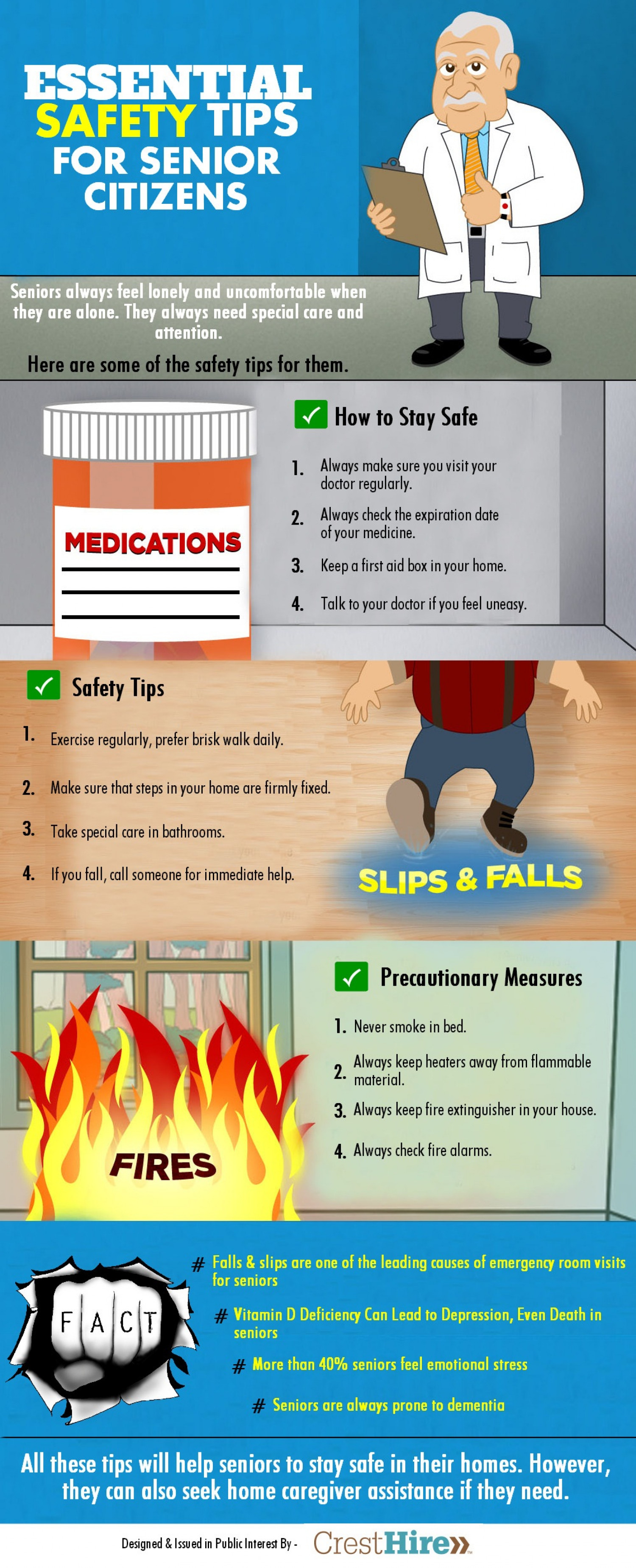 Essential Safety Tips for Senior Citizens Infographic