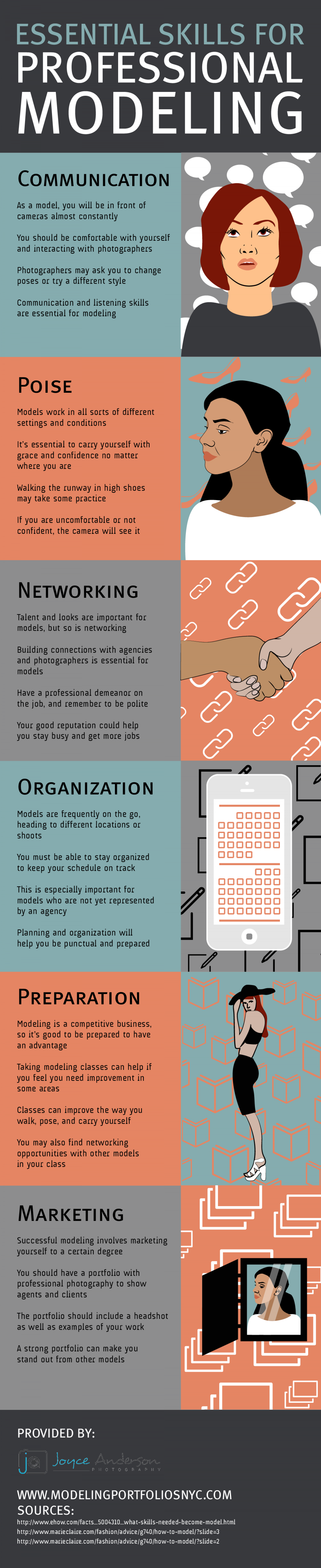 Essential Skills for Professional Modeling Infographic