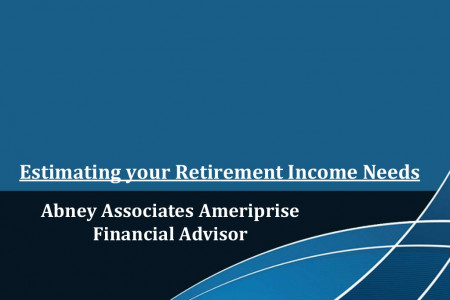 Estimating your retirement income needs of Abney Associates Ameriprise Financial Advisor Infographic