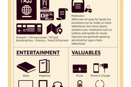 Etihad's Hand Luggage Checklist Infographic