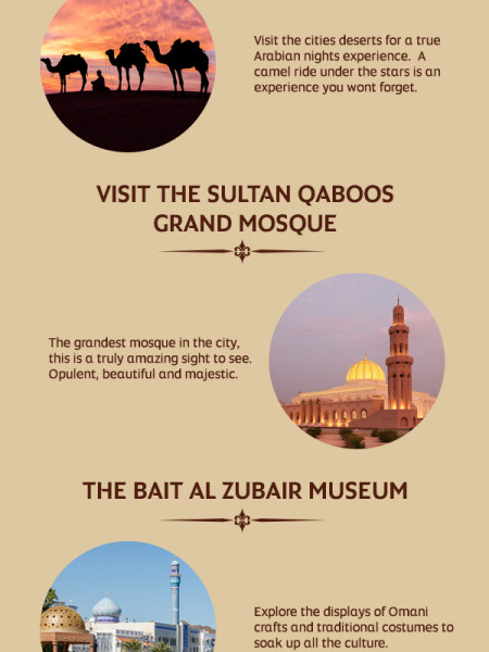 Etihad's Top 5 Reasons to Visit Muscat Infographic