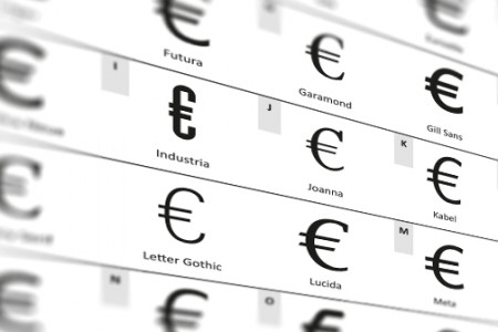 Euro & Fonts Infographic