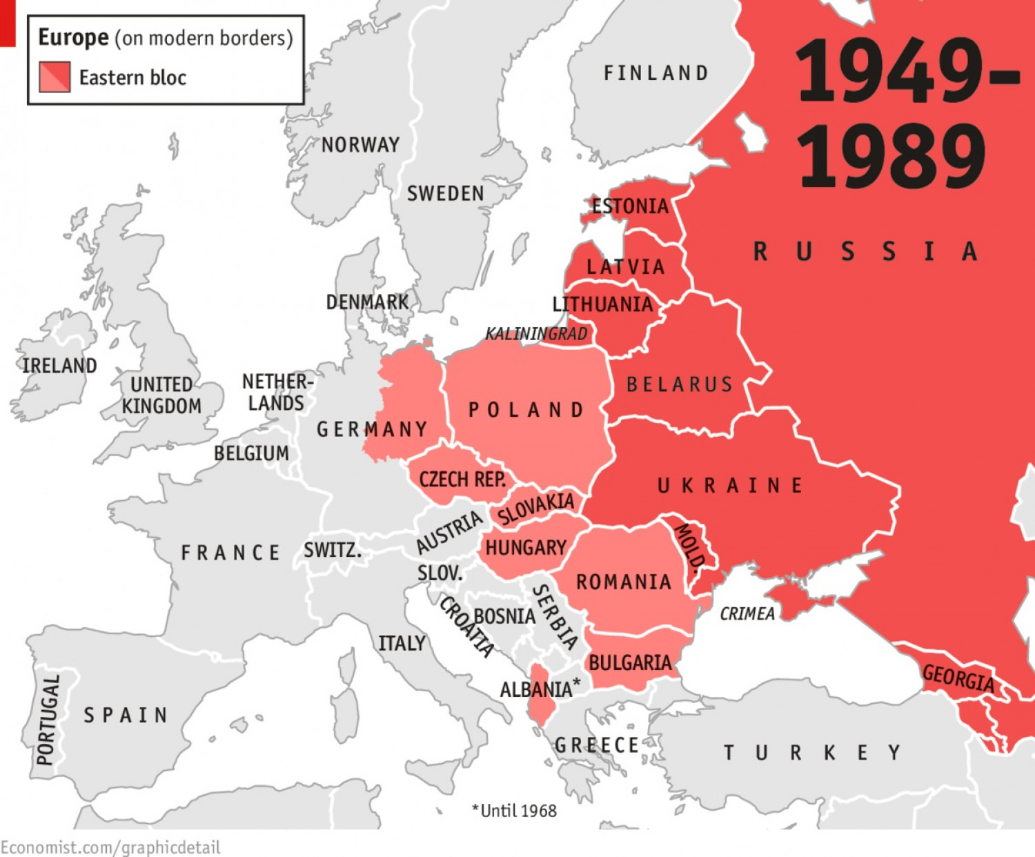 Europe 1949-1989 Infographic