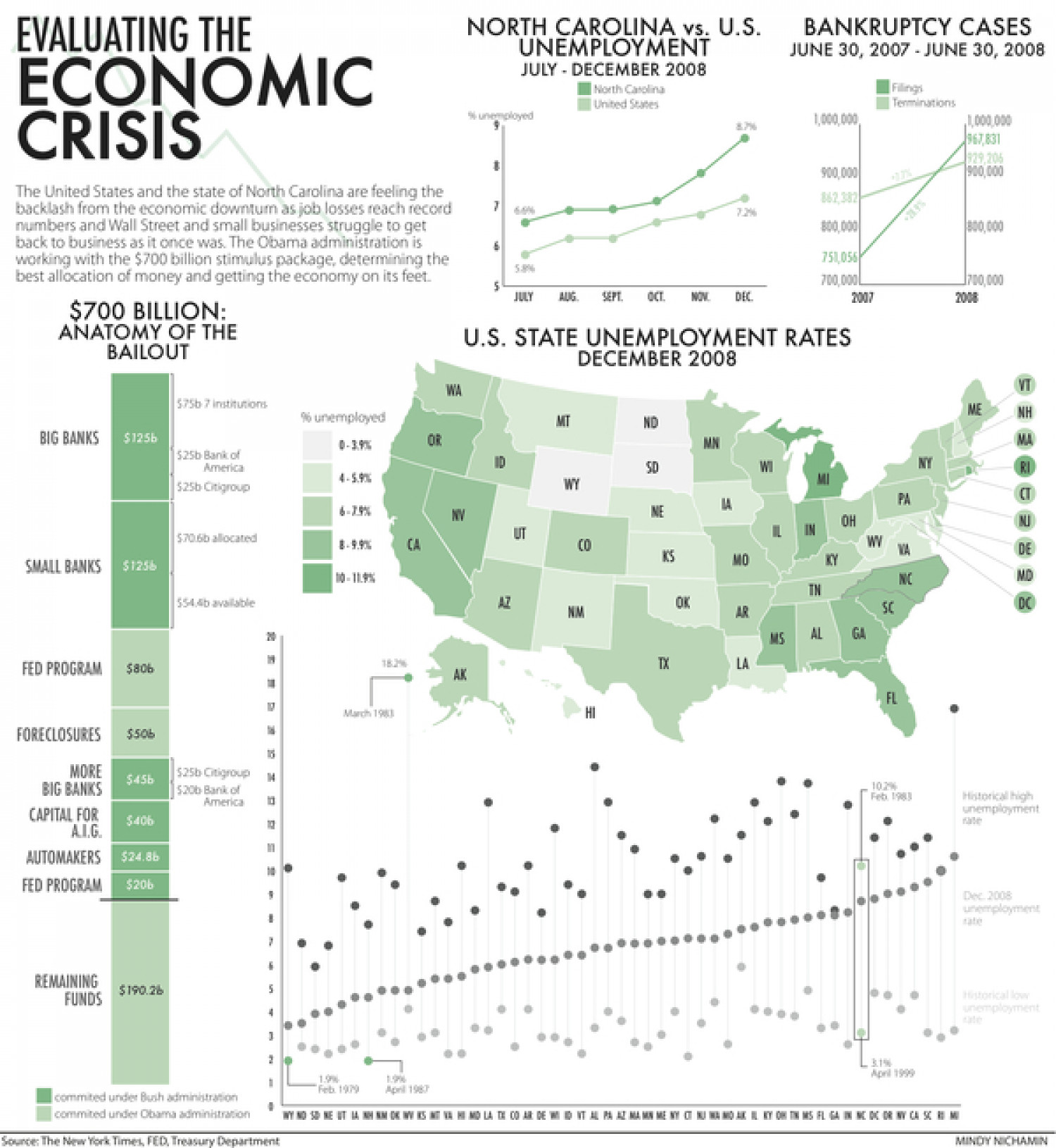 Evaluating the Economic Crisis Infographic