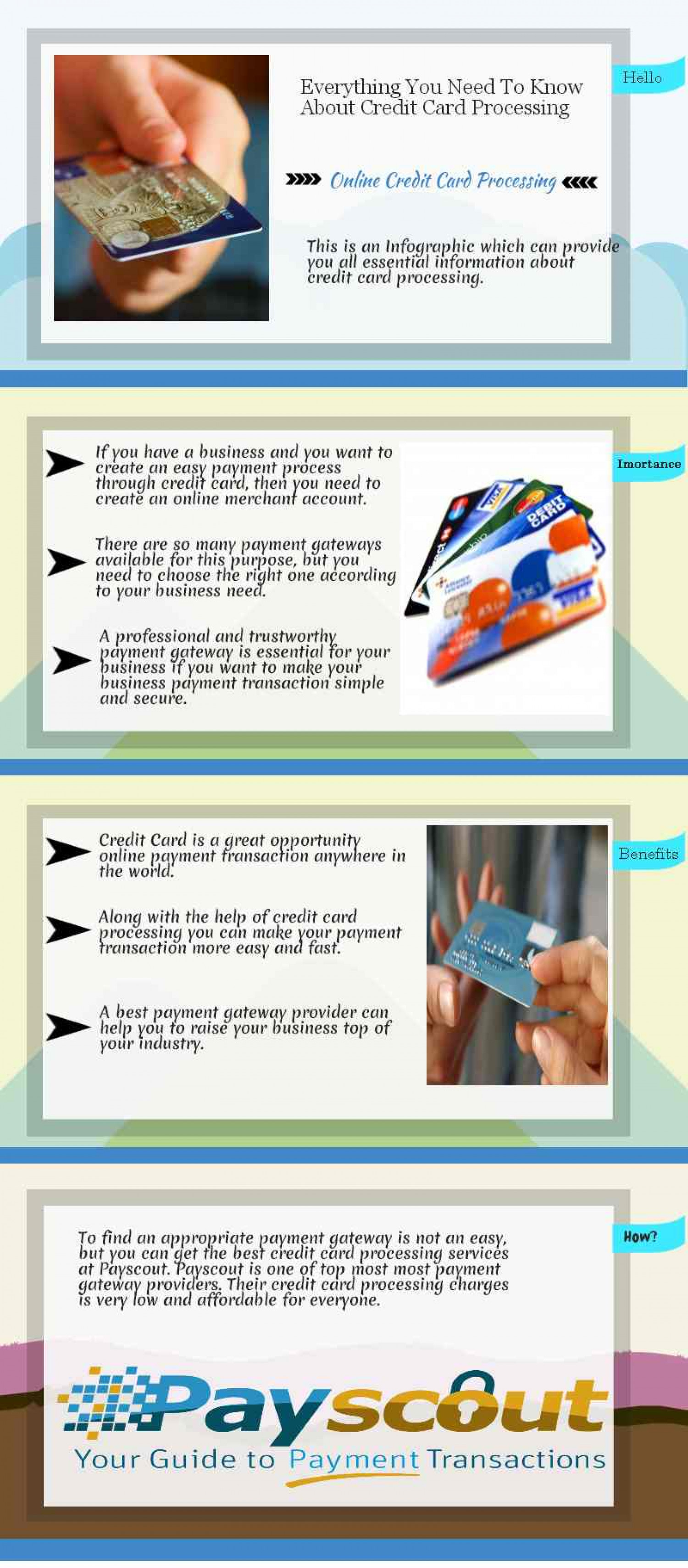 Everything You Need to Know About Credit Card Processing Infographic