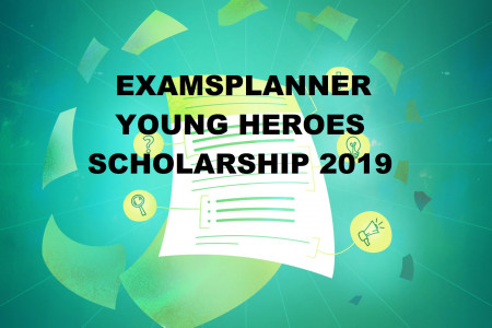 ExamsPlanner Young Heroes Scholarship Infographic
