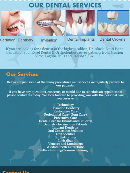 Excel Dental Office Dental Services and offers Infographic