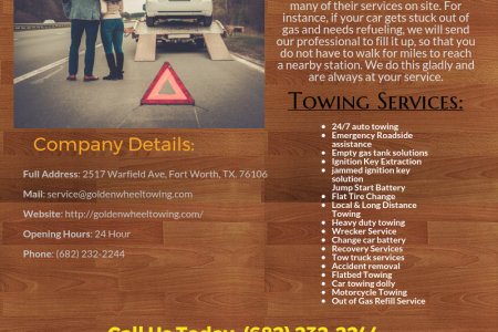 Excellent Fort Worth Towing & Roadside Assistance   24/7 Towing Service Infographic