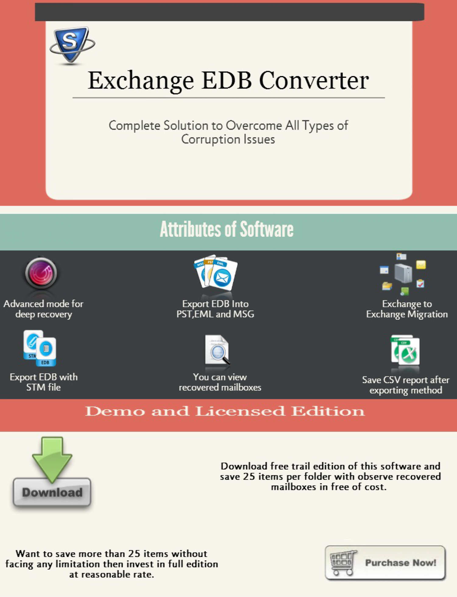 Exchange EDB Converter Infographic