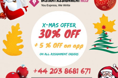 Exciting Christmas Offers - Upto 30% off on all Assignment Orders Infographic