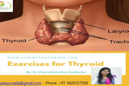 Exercise for Thyroid Control | Thyroid Exercise in Yoga Infographic