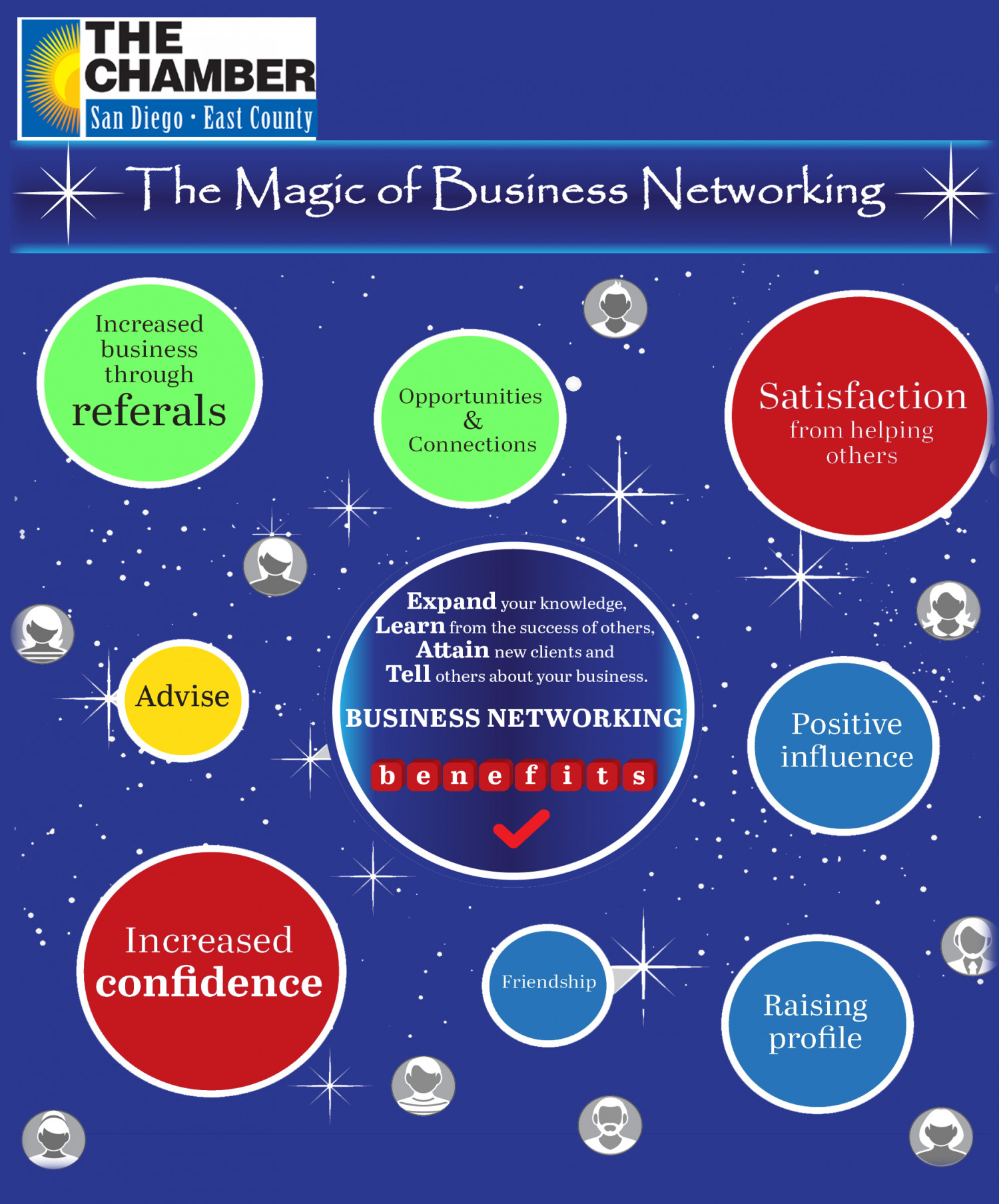 Expand Your Business Networking Online Infographic