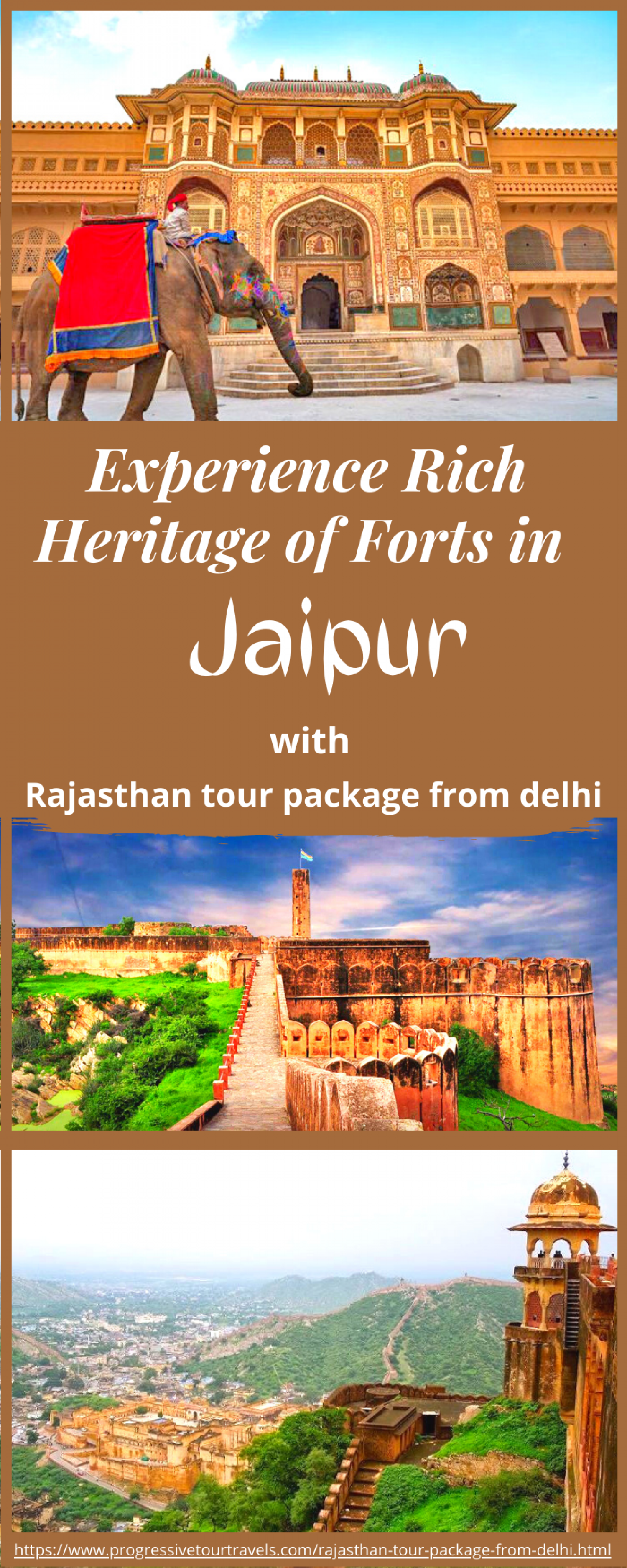Experience Rich Heritage of Forts in Jaipur Infographic