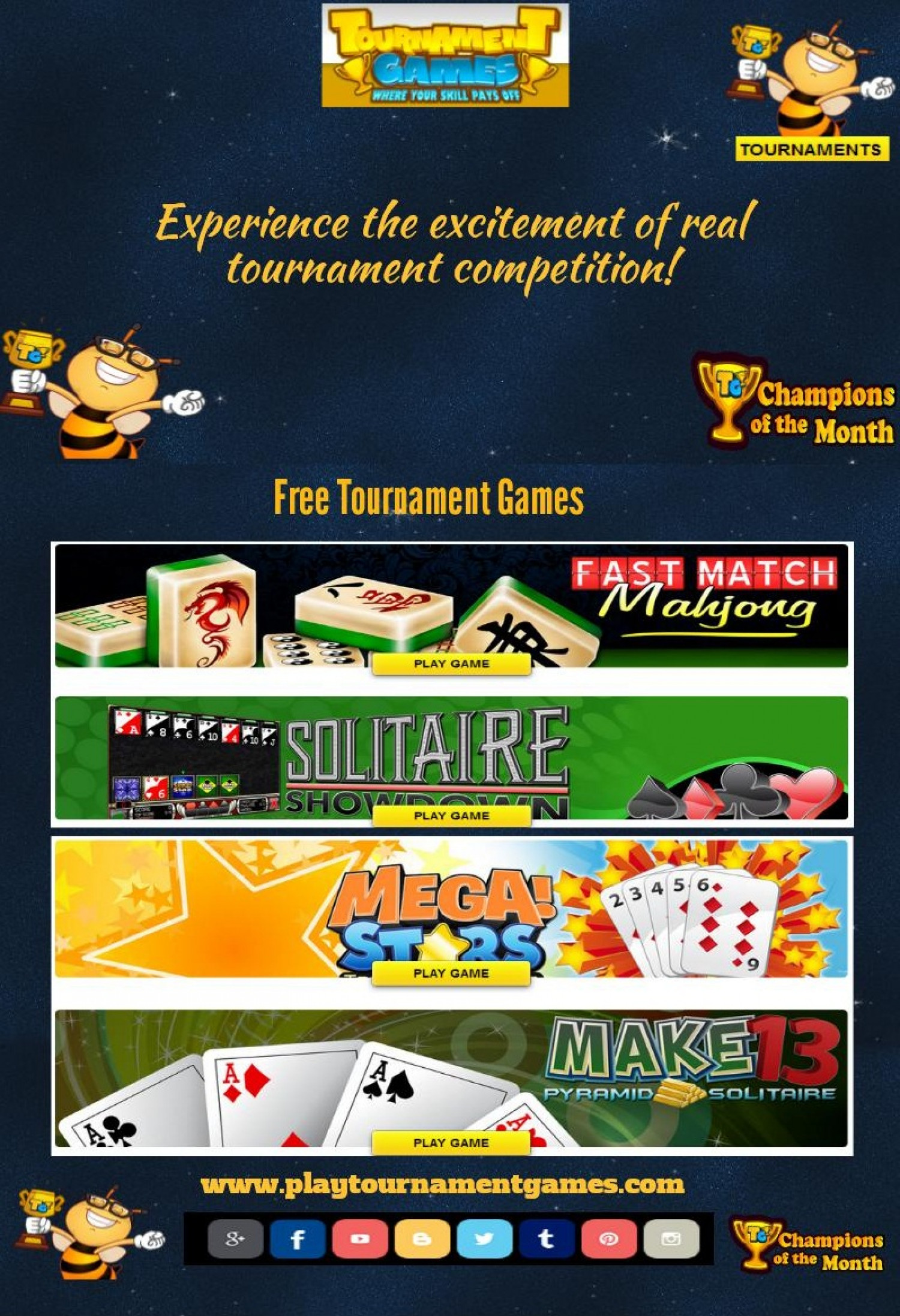 Experience the excitement of real tournament competition! Infographic