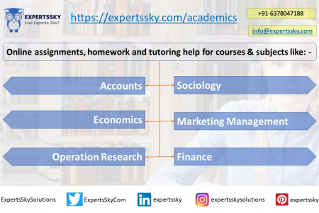 ExpertsSky: Online homework and assignments help for subjects Infographic