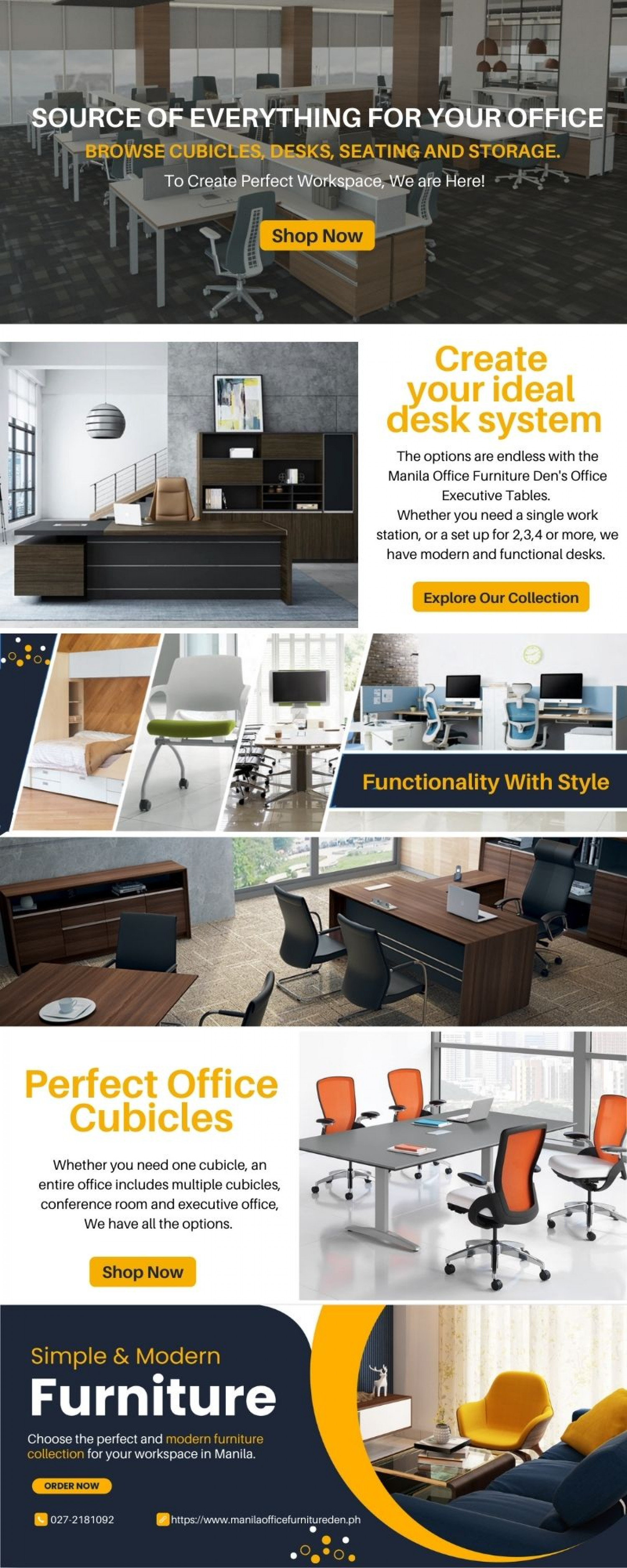 Explore the Perfect Range Of Office Furniture Infographic