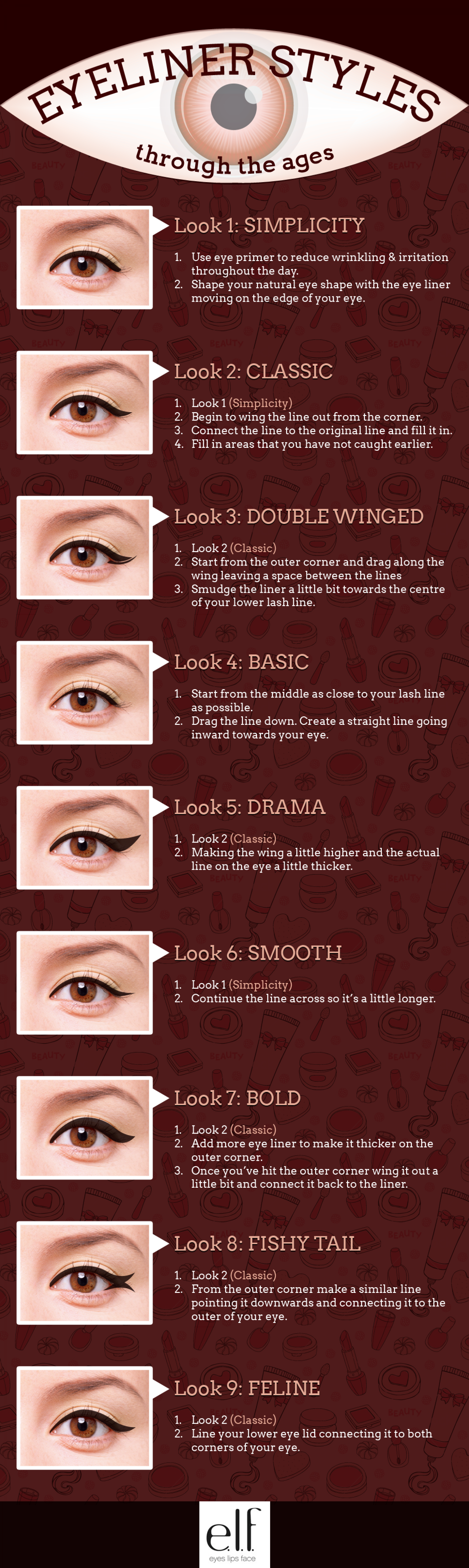 Eyeliner Styles Through the Ages Infographic