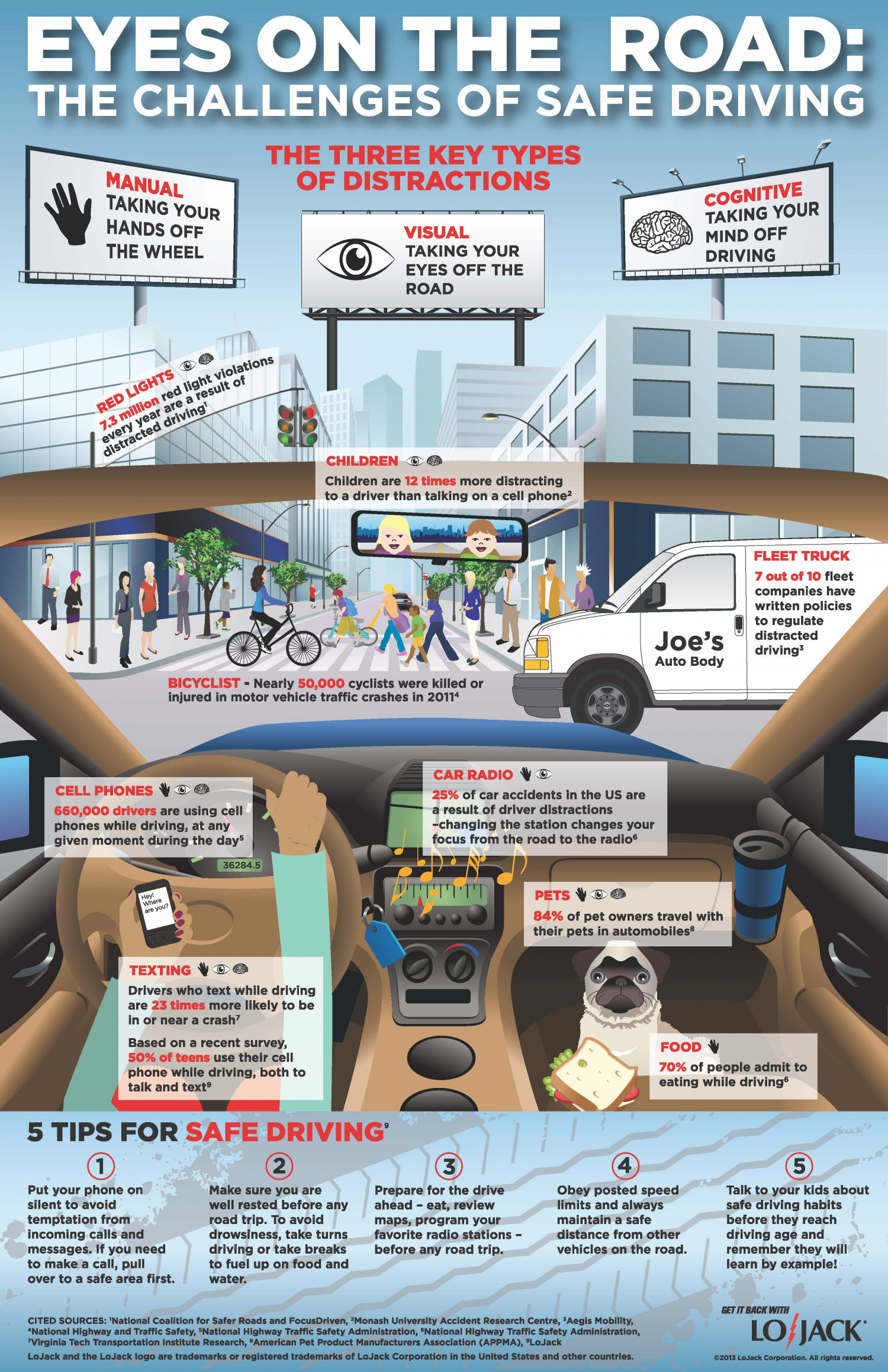 Eyes on the Road: The Challenges of Safe Driving Infographic