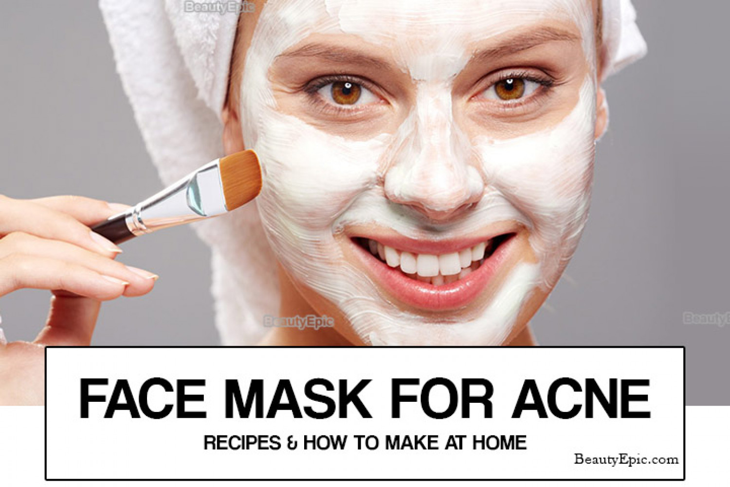 Face masks for Acne Infographic