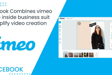 Facebook Combines Vimeo create inside the business suit to simplify video creation.   Infographic