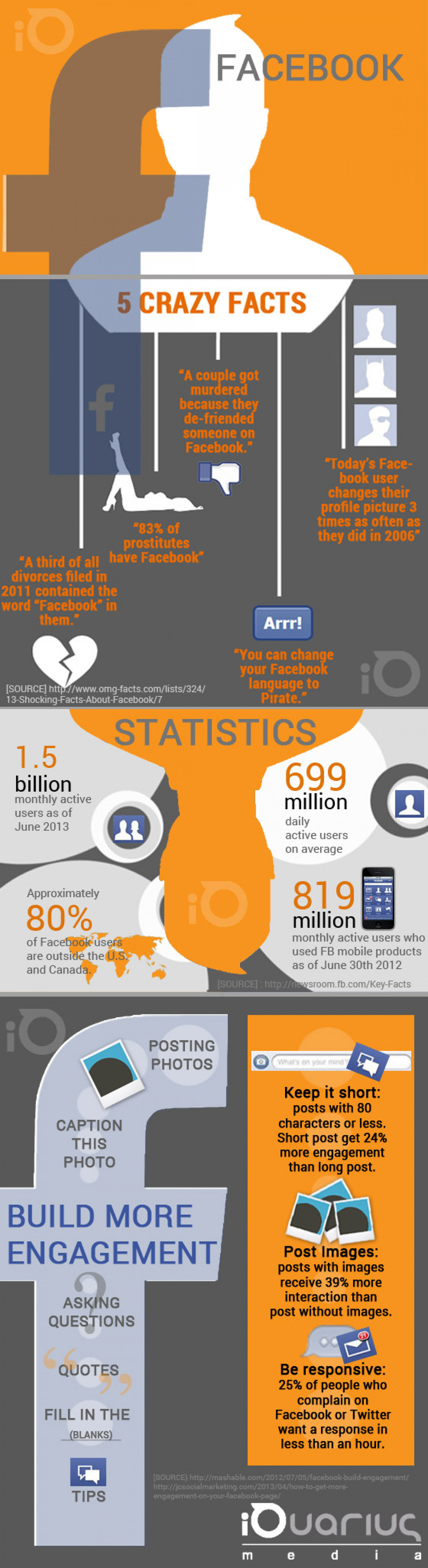 Facebook iQuarius Media  Infographic