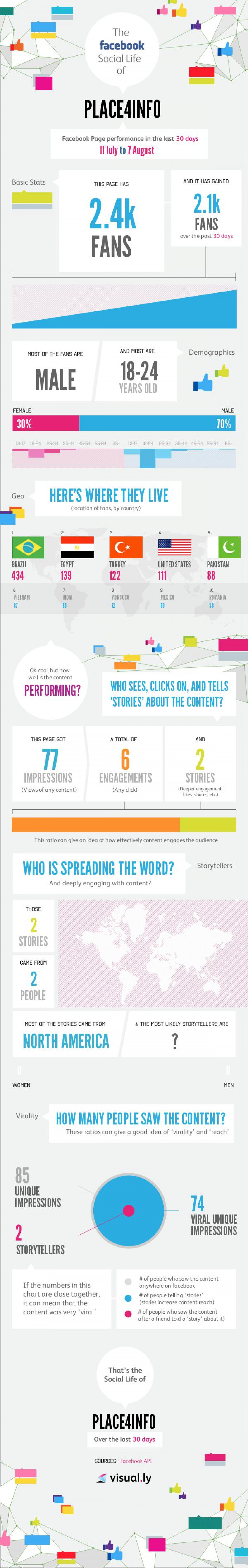 Facebook Insights for Place4info Infographic