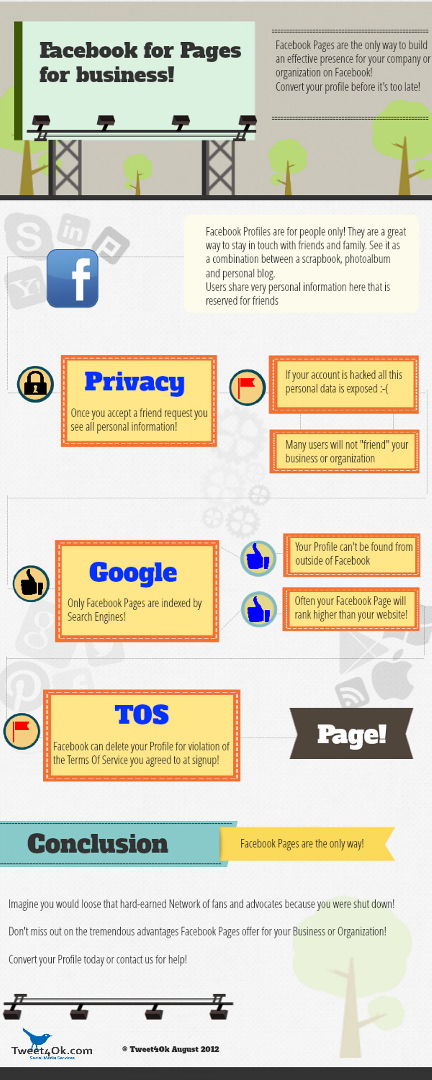 Facebook Pages Infographic