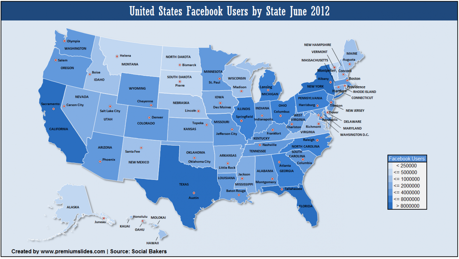 Facebook User in United States Infographic