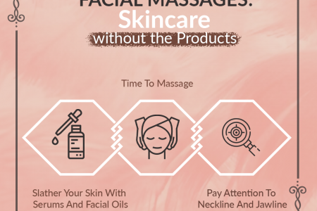Facial Massages: Skincare without the Products Infographic