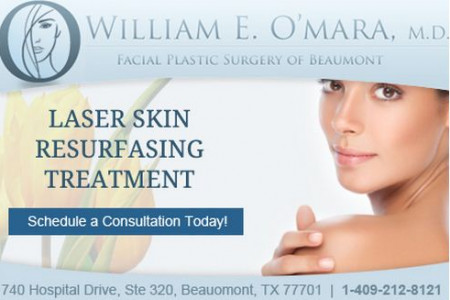 Facial Plastic Surgery of Beaumont Laser Skin Resurfacing Treatment Infographic