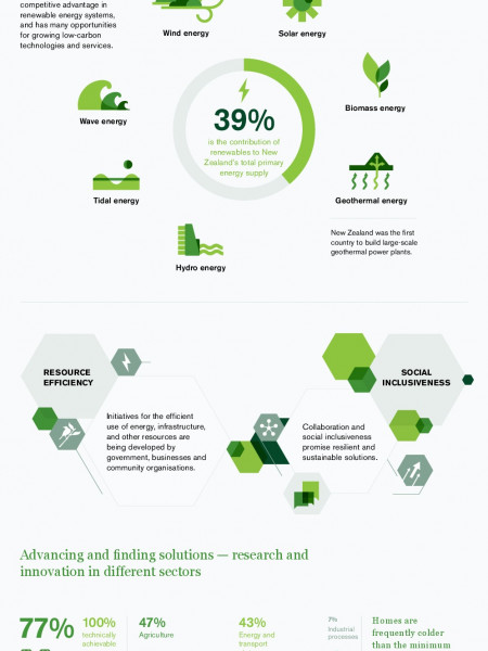 Facing the Future: Towards a Green Economy in New Zealand Infographic