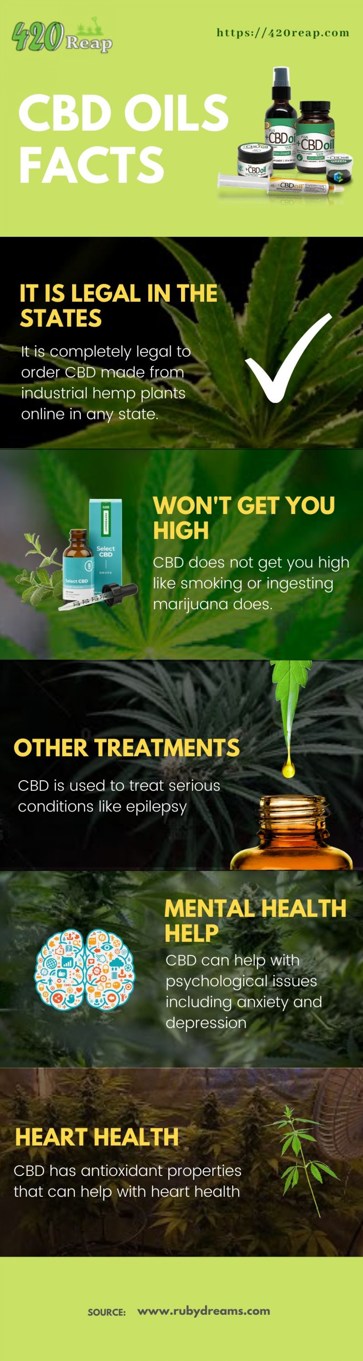 Fact about CBD oil Infographic