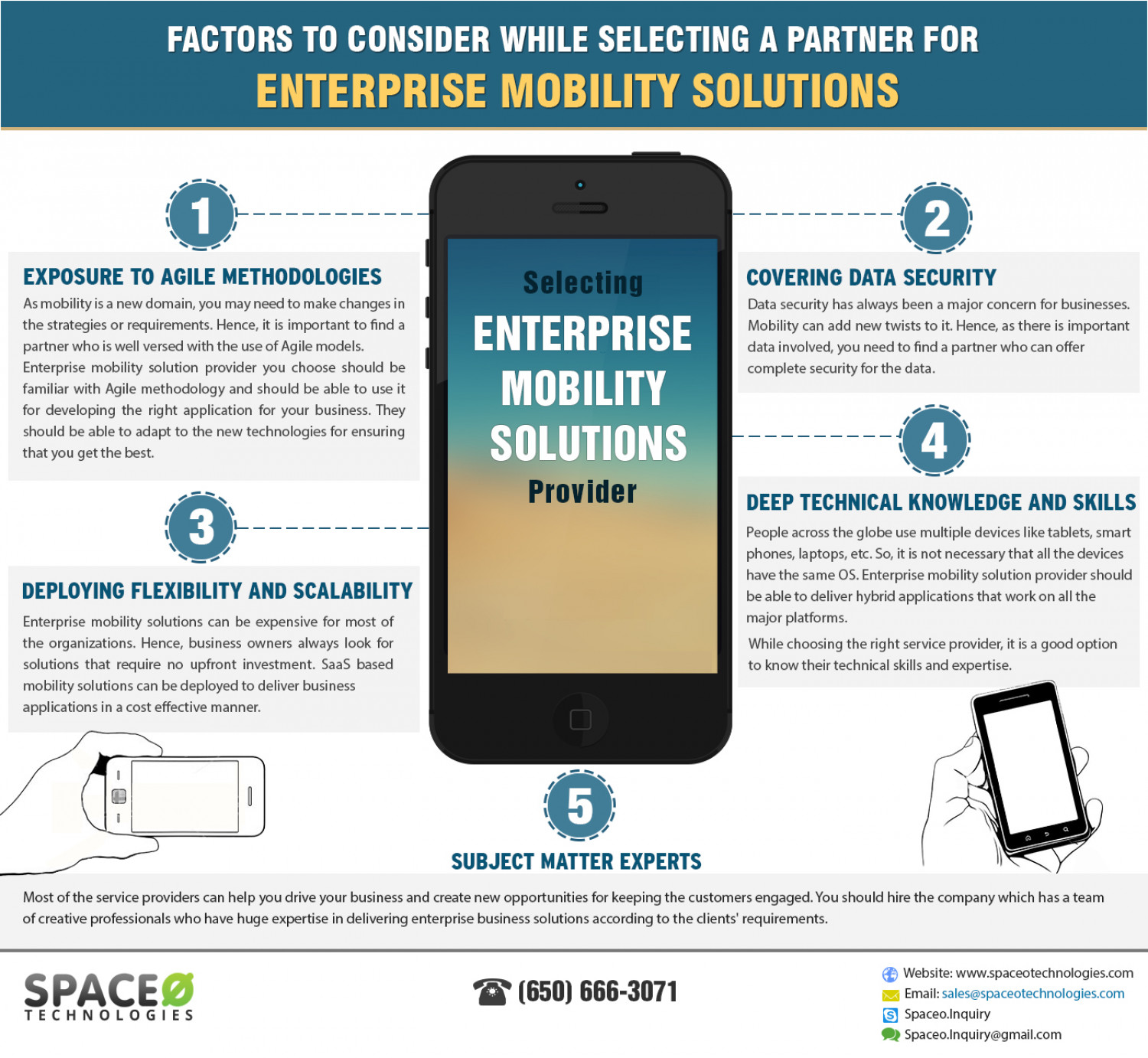 Factors to Choose Enterprise Mobility Solutions Provider Infographic