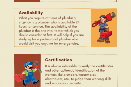 Factors To Consider Before Choosing The Right Plumber Infographic