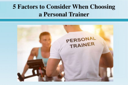 Factors to Consider When Choosing a Personal Trainer Infographic