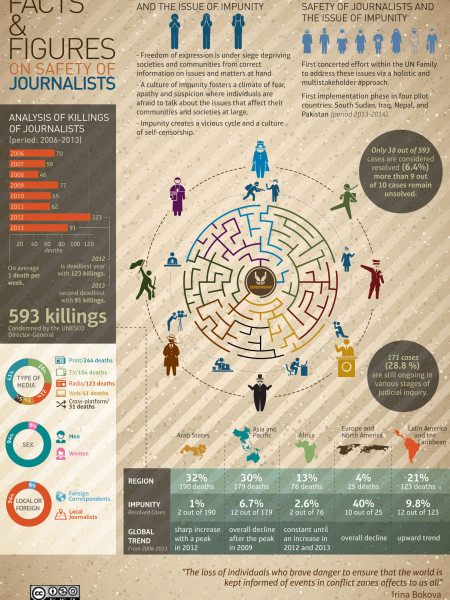 Facts & Figures on Safety of Journalists Infographic