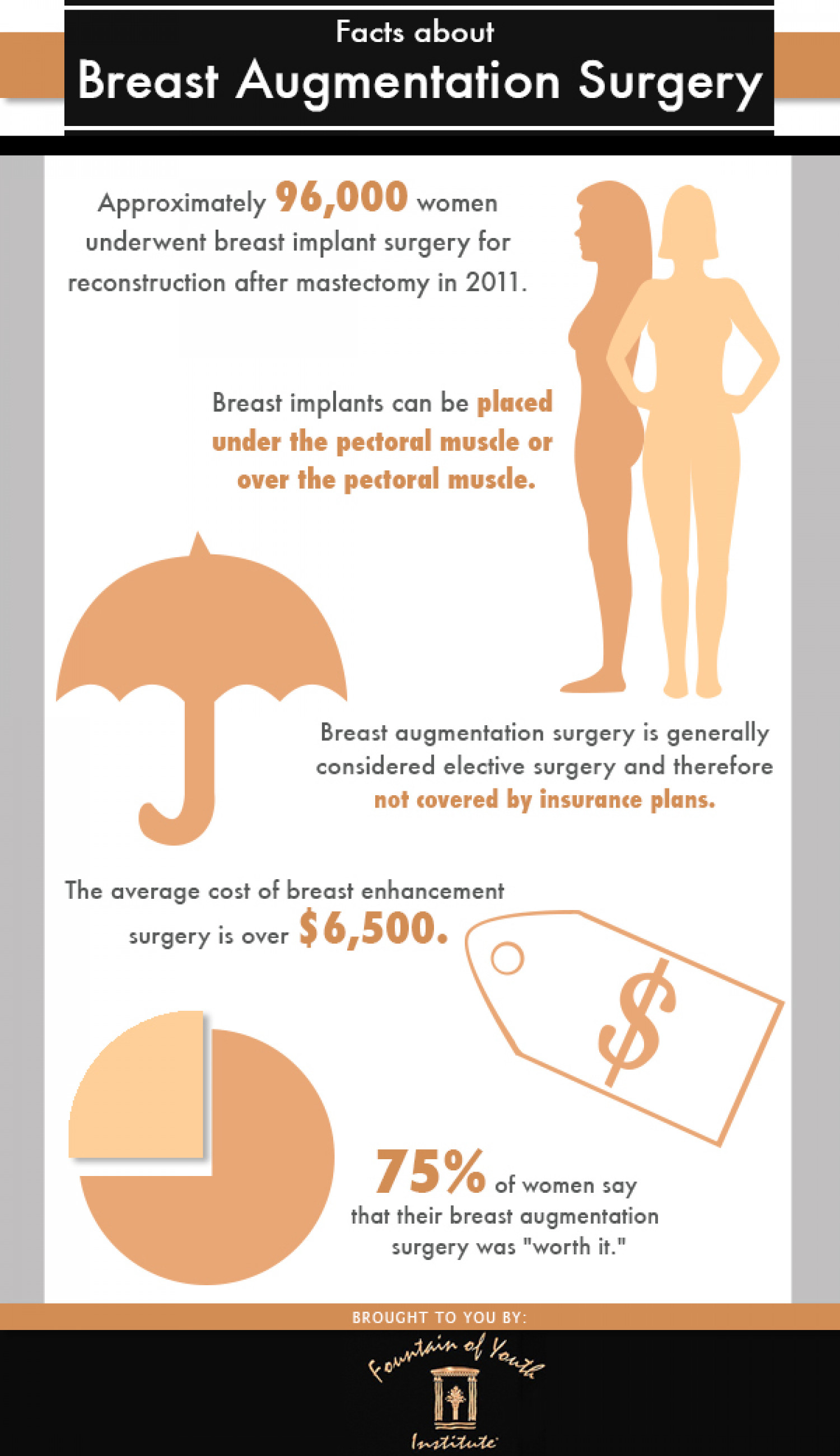 Facts About Breast Augmentation Surgery Infographic