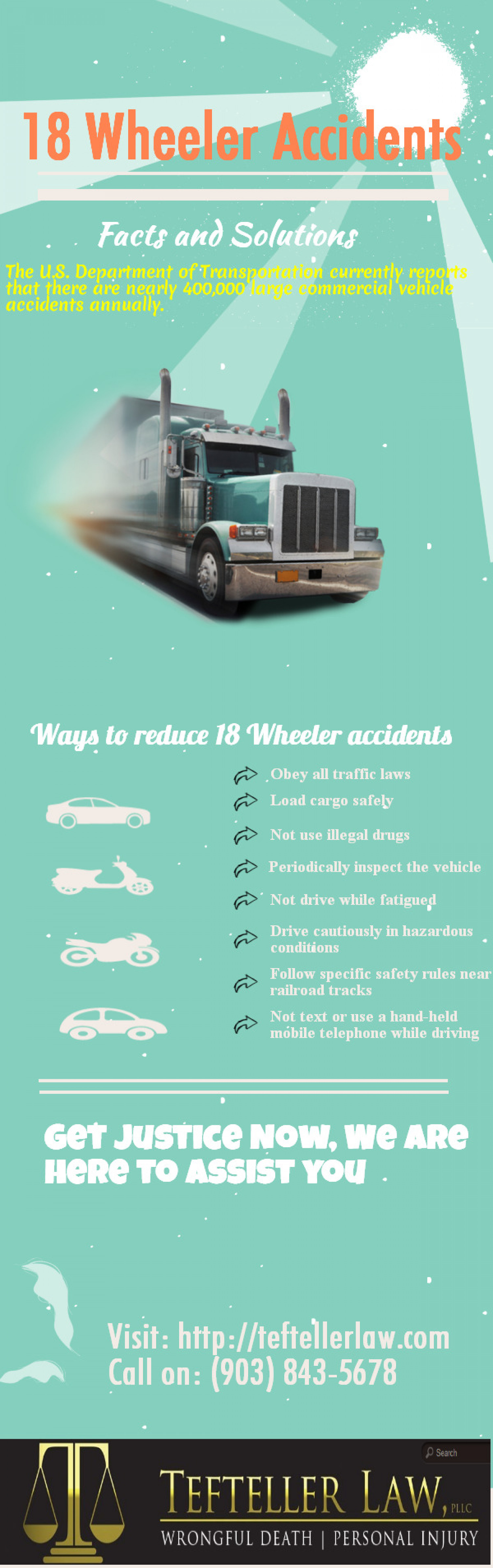 18 Wheeler Accidents Infographic