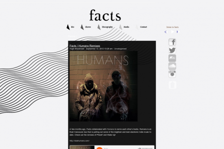Facts Website Infographic