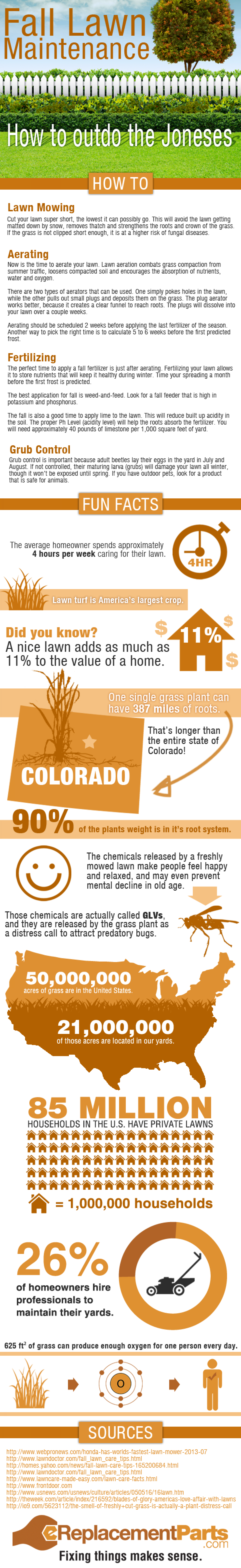 Fall Lawn Maintenance Infographic
