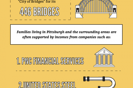 Families in the Pittsburg, PA Area Infographic