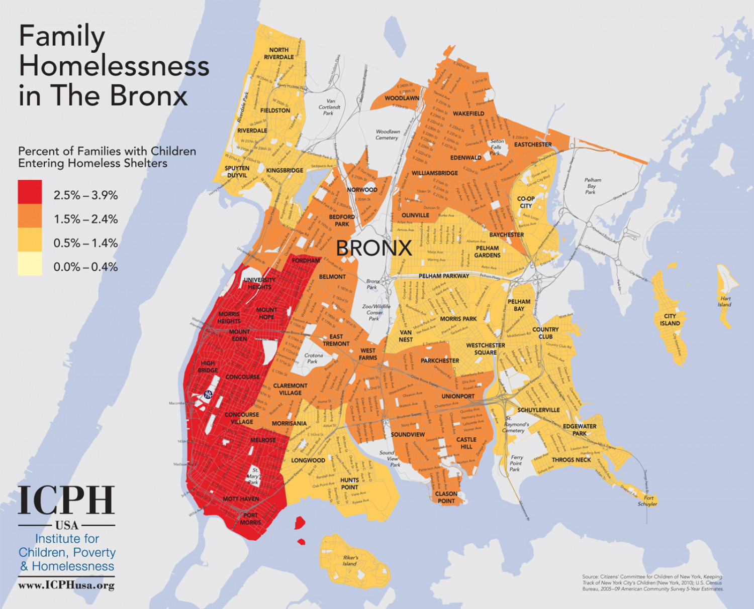 Family Homelessness in the Bronx Infographic