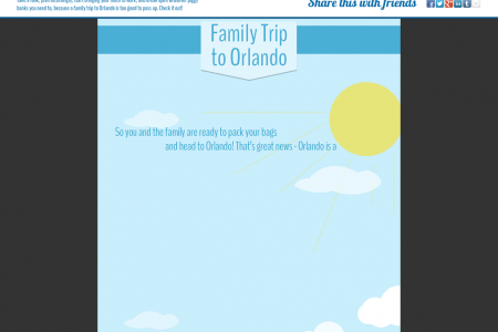 Family Trip to Orlando by CheapOair Infographic