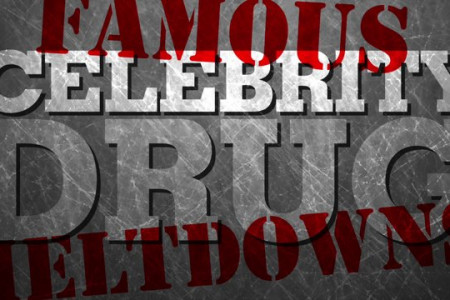 Famous Celebrity Drug Meltdowns Infographic