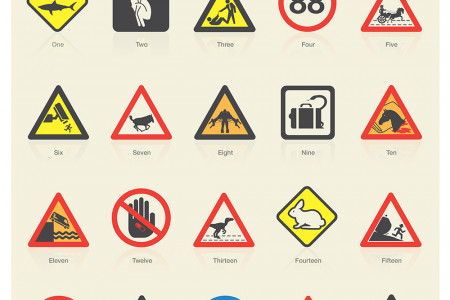 Famous Movies as Safety Signs Infographic